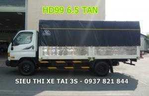 Bán xe Hyundai HD99 tải 6,5 tấn - Trả góp 80%...