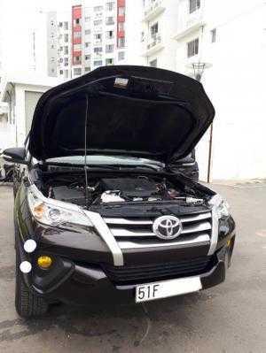 Bán xe Toyota Fortuner 2.4G 2017, màu nâu, đúng chất, biển TP, giá TL, hổ trợ góp
