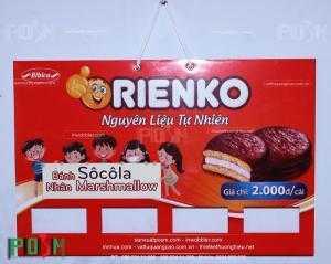 Bảng treo sản phẩm, hanger treo sản phẩm bánh Orienko
