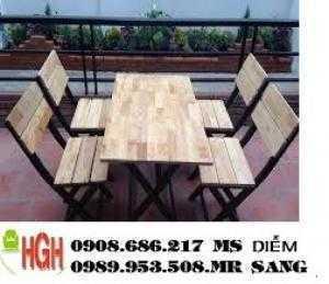 Ghế gỗ cafe sân vườn giá rẻ hh78