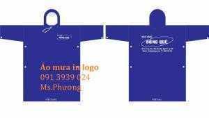 Áo mưa in logo, áo mưa quảng cáo giá rẽ, áo mưa quà tặng khách hàng