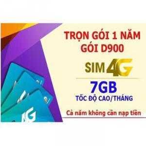 Sim 4G Viettel mua 1 lần sài 1 năm khuyến mãi 7GB/tháng trong suốt 1 năm không cần nạp tiền