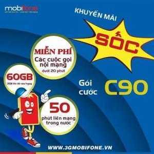Gói cước C90 Mobiphone 4G giá rẻ | 60GB DATA, gọi điện miễn phí trong 2 tháng đầu