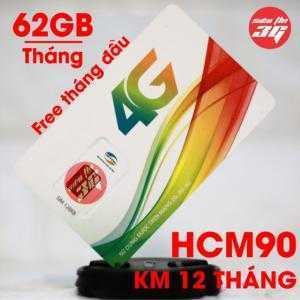 SIM 4G Viettel HCM90 Tặng 62GB/Tháng và Miễn Phí Phút Gọi  Nội Ngoại Mạng Free 1 tháng đầu