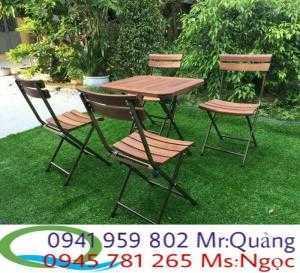 Bàn ghế cafe mini xếp giá rẻ nhất