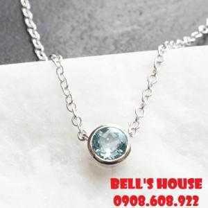 Dây chuyền đá topaz xanh thiên nhiên, dây chuyền nữ đá thiên nhiên Bells House TPHCM,