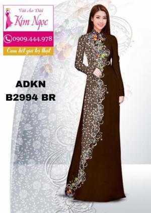 Vải áo dài in 3D B2994