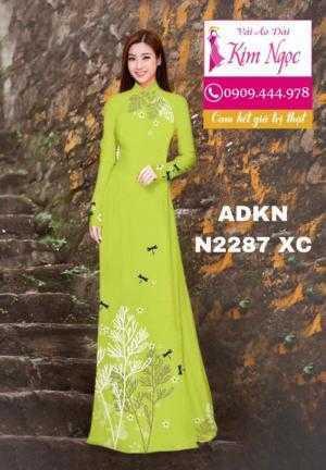 Vải áo dài đẹp in 3D N2287
