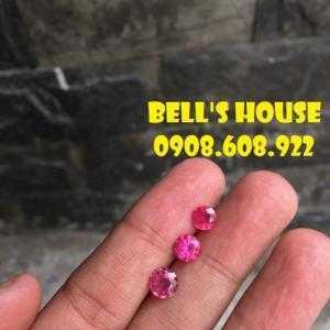 Nhẫn đá ruby đỏ thiên nhiên, ruby đá phong thủy thiên nhiên Ấn Độ, Bells House TPHCM,
