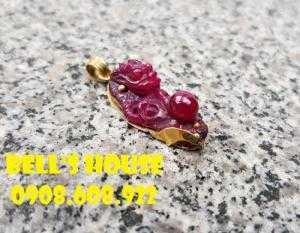 Rồng ruby Nam Phi đỏ phớt tím sang chảnh, đá ruby phong thủy Rồng tài lộc Bells House TPHCM,