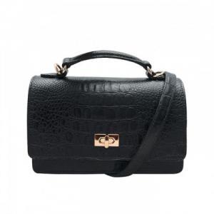 Túi xách nữ da bò thật cao cấp màu đen ET340