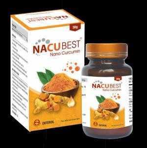 NacuBest - Nano Curcumin 20% hỗ trợ điều trị viêm loét dạ dày