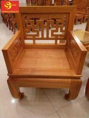 Bộ bàn ghế gỗ gõ đỏ kiểu hiện đại.
