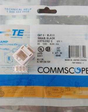 Annam chuyên Phân phối thiết bị mạng, MODUL JACK RJ45 Cat6 mã 1375055-1