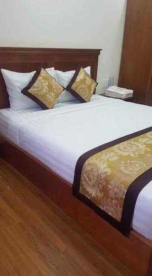 Công ty trang trí nội thất THIÊN ÂN mới vừa hoàn thành xong nội thất: Chăn, Drap, Gối, Nệm công trình khách sạn HỒNG TÙNG địa chỉ 85-87 Nguyễn Công Trứ.
