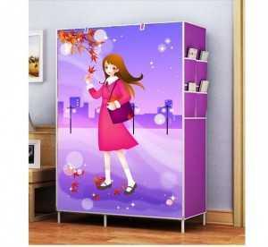 Tủ Vải 3D Khung Kim Loại 2 Buồng 6 Ngăn Kích thước 105x45x170 cm - MSN1831105
