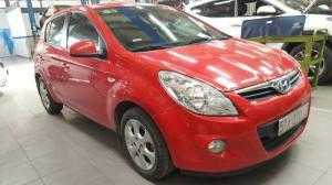 Bán Hyundai i20 1.4AT màu đỏ tươi xinh số tự động nhập Hàn Quốc 2010 biển Sài Gòn chạy đúng 82000km