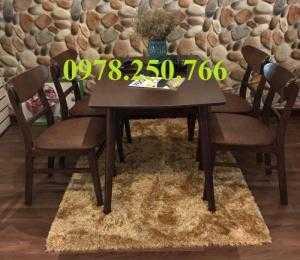 Bộ bàn ghế gỗ cao su TPHCM -