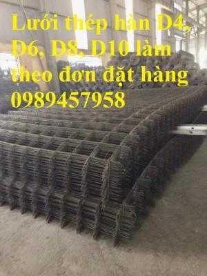Chuyên sản xuất lưới hàn chập phi 6 đổ bê tông ô 100x100, 150x150, 150x200, 200x200