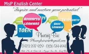 Học tiếng Anh hiệu quả tại MsP EC, Long Biên, HN - TA Ms Phương