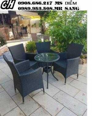 Bàn ghế cafe giá rẻ nhất nn1