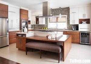 Tủ bếp chất liệu Laminate cao cấp kết hợp bàn đảo – TBN0140