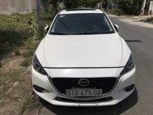 Bán Mazda 3 Facelift 1.5AT 5 cửa màu trắng số tự động sản xuất 2017 biển Sài Gòn lăn bánh 5000km