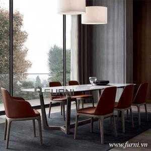 Bộ bàn ăn concorde mặt đá hiện đại