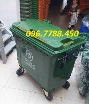 Phân phối xe gom rác môi trường đô thị 660 lít giá sỉ