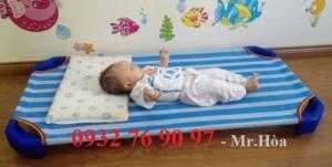 Giường 1m2 cho bé bằng vải lưới nhập khẩu
