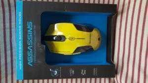 Chuột quang có dây Assassins N500 | chuột game có đèn LED | Màu vàng