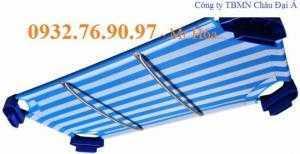 Giường ngủ 1m2 cho bé - Vải lưới bọc nhựa màu xanh nhập khẩu