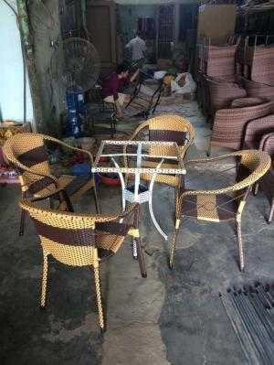 Cung cấp bàn ghế cafe giả mây Hoa Văn giá góc sản xuất