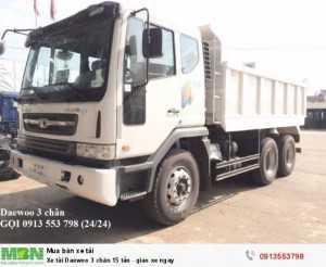 Xe tải Daewoo 3 chân 15 tấn - giao xe ngay