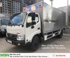 Bán xe tải Hino Dutro 3.5 tấn chịu tải được 5 tấn, trả trước 150tr, giao xe ngay