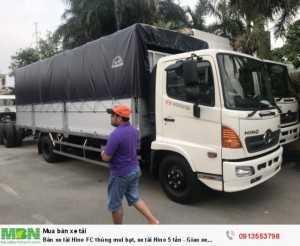 Bán xe tải Hino FC thùng mui bạt, xe tải Hino...