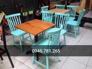Bộ bàn ghế cafe gỗ hiện đại phù hợp với nhiều...