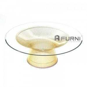 Bàn sofa bàn trà mặt kính cao cấp nhập khẩu hiện đại TS PLANTER GOLD