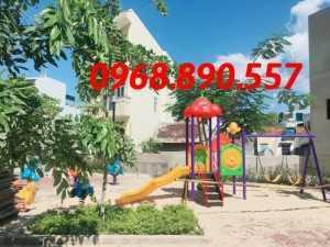 Lắp đặt cầu trượt khu vui chơi trẻ em, cầu trượt mầm non ,hầm chui trẻ em