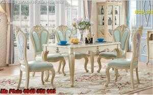Xả kho thanh lý nội thất phòng ăn cổ điển - bàn ăn tân cổ điển châu Âu tại Vũng Tàu