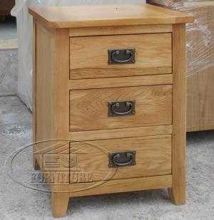 Tủ gỗ sồi 3 ngăn kéo hàng xuất khẩu