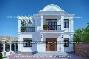 Tư vấn thiết kế biệt thự bán cổ điển 2.5 tầng kiểu Pháp chú Lương