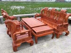 Bộ bàn ghế tần thủy hoàng gỗ hương đá