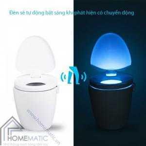Đèn LED cảm ứng chuyển động, nhiều màu sắc phát sáng bồn cầu LB8