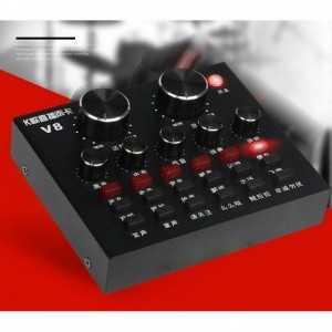 Combo SOUND CARD v8 và micro hát livestream