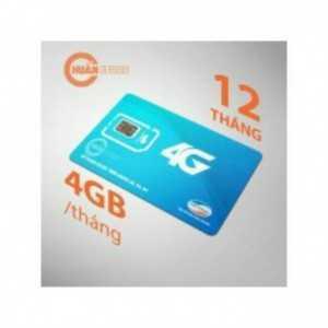 Sim 4G VIETTELL có 4Gb/ tháng miễn phí 1 năm