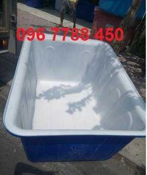 Thùng nhựa nuôi cá 750 lít hình chữ nhật giá rẻ toàn quốc