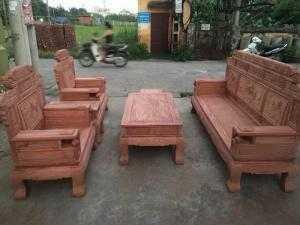 Bộ bàn ghế giá cổ sơn thủy gỗ hương đá