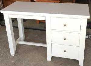 Bàn học bàn làm việc gỗ tự nhiên màu trắng 100%