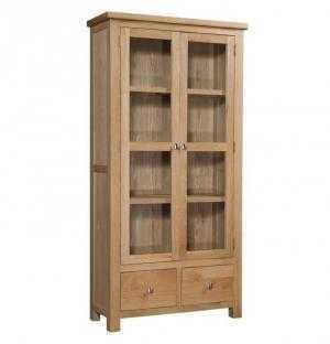 Tủ trưng bày- 2 cánh 2 hộc cuba gỗ sồi